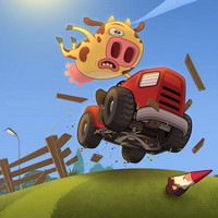 games Cows vs Sheep: Mower Mayhem