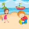 کودکان در ساحل