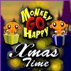 خوشحالی میمون در کریسمس
