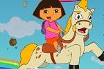 بازی کودکانه دورا و اسب شاخدار