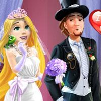 بازی دخترانه عروس و داماد راپونزل