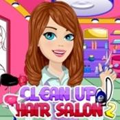 بازی دخترانه تمیز کردن سالن آرایش