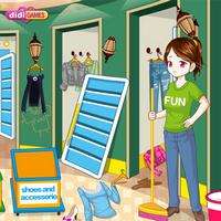 بازی دخترانه تمیز کردن فروشگاه لباس