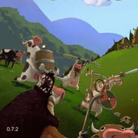بازی دفاع از قلعه گاوها در مقابل وایکینگ ها