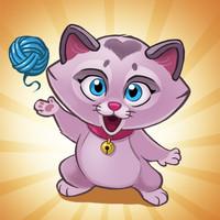 بازی گربه بازیگوش  و توپ های رنگی