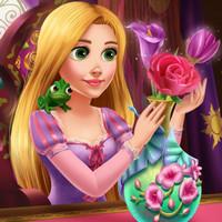 بازی دخترانه راپانزل و گلدان