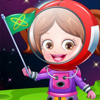 بازی آنلاین دخترانه هازل فضانورد