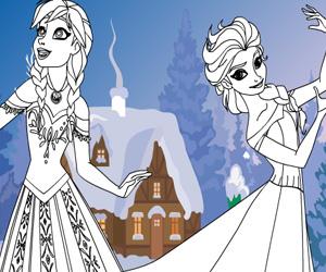 بازی رنگ آمیزی السا و آنا